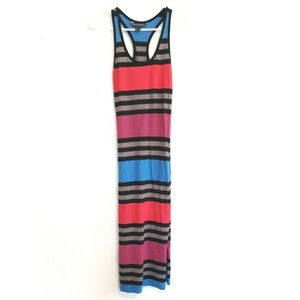 French connection striped colorful tank dress
